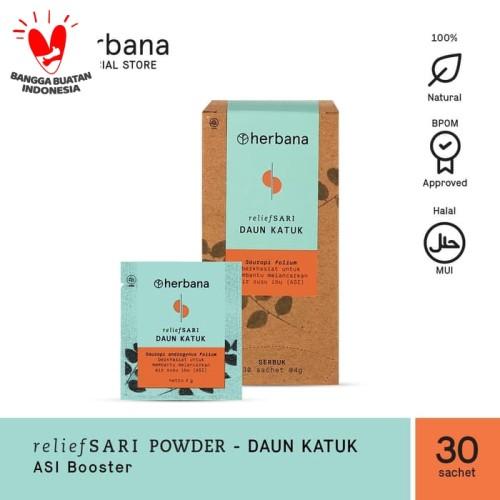Foto Produk Herbana Relief Sari Powder Daun Katuk - Isi 30 Sachet @4g dari HERBANA