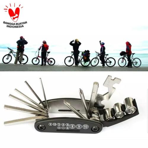 Foto Produk Kunci sepeda multifungsi - Obeng repair tool set sepeda dari Uwo Sports