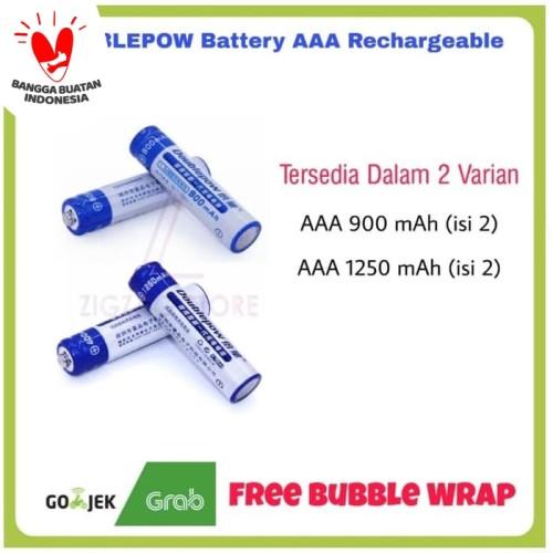 Foto Produk Baterai Cas AAA Doublepow 1250 mAh isi 2 - 900 mAh dari ZigZag-Store