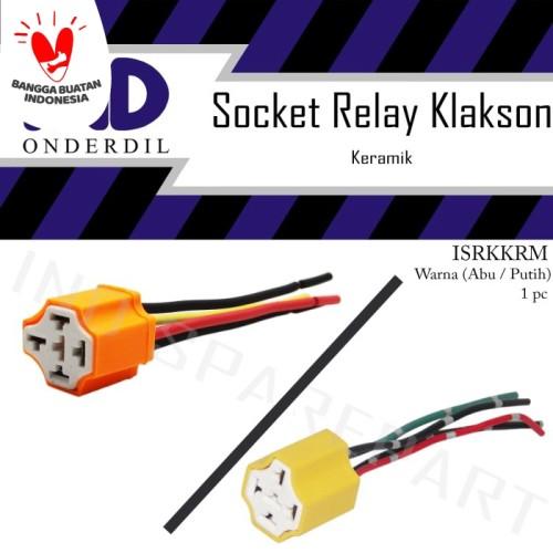 Foto Produk Socket-Soket Relay-Riley-Rilei Klakson 4 Kaki-Kabel Keramik-Ceramic dari IND Onderdil