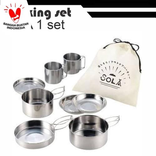Foto Produk cooking set pp 02 nesting 8 set dari grosiran-outdoor