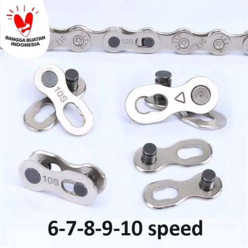 Foto Produk Sambungan rantai sepeda 6-8, 9, 10 speed - 10Speed dari Uwo Sports