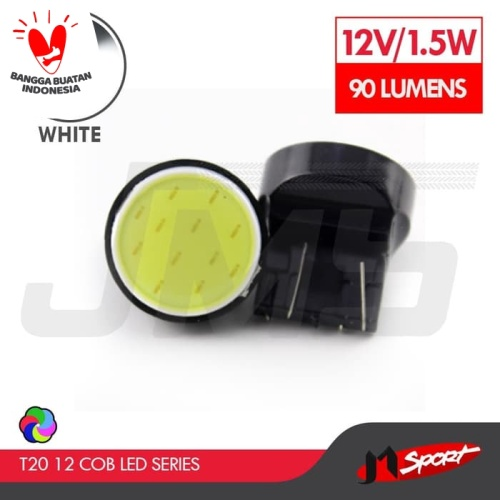 Foto Produk Lampu LED Senja/Wedge Side T20 7443 12 COB LED 1.5W - White dari Jaya Motorsport