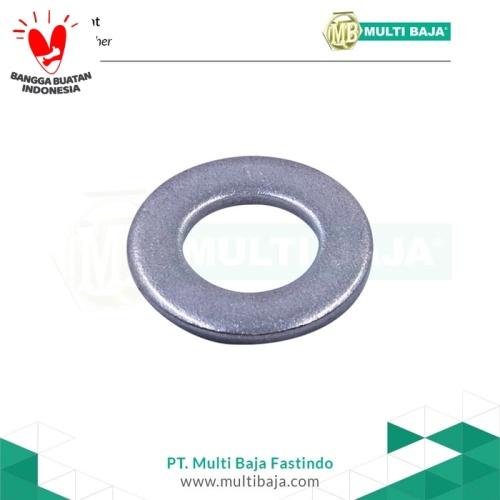 Foto Produk SUS 304 Ring Plat (Flat Washer) M4 Stainless dari Multi Baja Fasteners