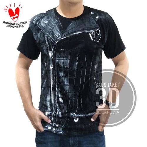 Foto Produk Baju Kaos pria model jas jaket 3D dari Bolapedia