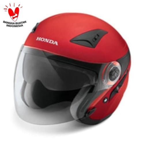 Foto Produk Honda Luxury Helmet Red 87100LXREDL size L dari Honda Cengkareng