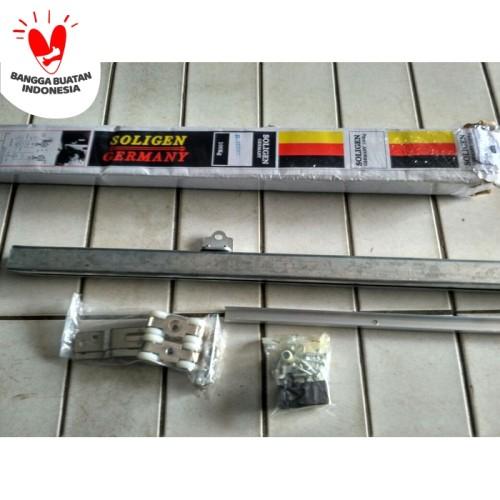 Foto Produk Rel Pintu Geser Gantung Sliding Aluminium Kayu Soligen J3 180 cm dari JEMURAN FORTUNA