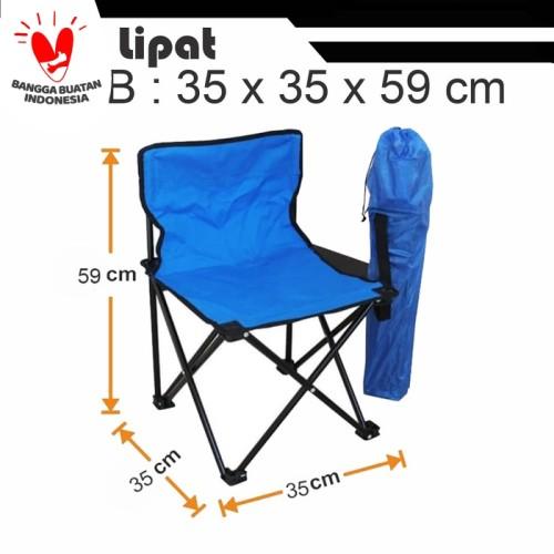 Foto Produk kursi lipat / kursi portable /outdoor/gunung - Biru dari grosiran-outdoor