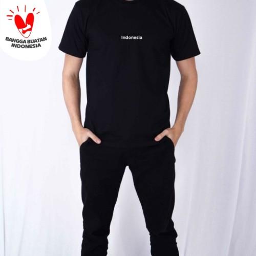 Foto Produk Kaos Polos Pria edisi Kemerdekaan Indonesia houseofcuff - Hitam, INDONESIA dari House of Cuff