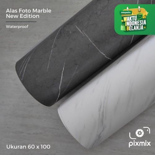 Foto Produk Alas foto marble 60 x 130 cm - Marbella White dari pixmix