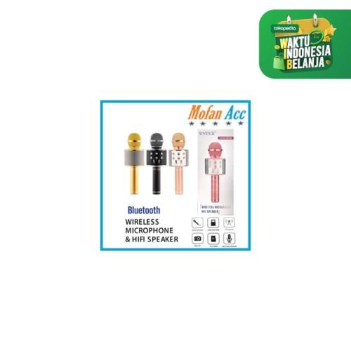 Foto Produk #EH134 / MIC WSTER WS 858 Wireless Bluetooth Karaoke - Mic Smule - PINK dari mofan accesories