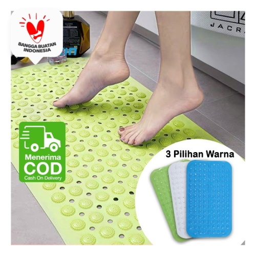 Foto Produk Keset Kamar Mandi PVC Kerikil + Vacum Anti Slip Tebal High Quality - Hijau dari SUNXIN