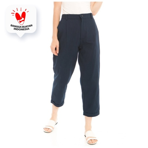 Foto Produk Kama Linen Pants in Navy - Beatrice Clothing Official dari Beatrice Clothing
