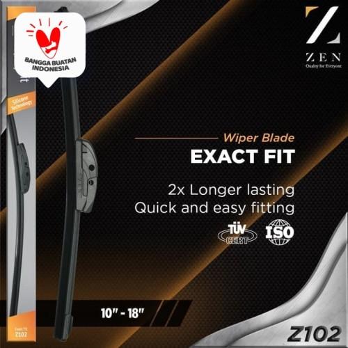 """Foto Produk Satu Pasang Zen ExactFit Silicone Frameless Wiper Z102 10""""-28"""" Silikon dari Zen Car Parts"""