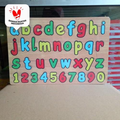 Foto Produk Puzzle / Puzle / Pazel kayu MDF belajar Abjad, huruf dari ALIDA