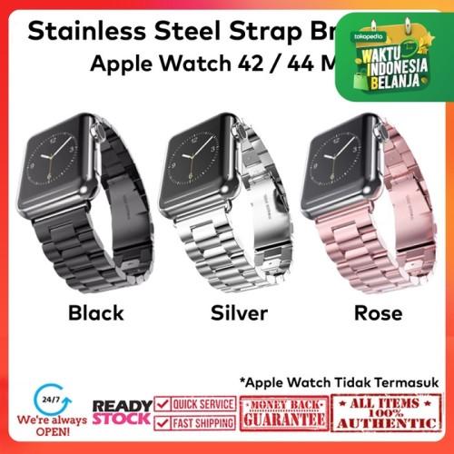Foto Produk Case Apple Watch 42mm / 44mm Stainless Steel Luxury Bracelet Strap - Black dari Spigen Indonesia