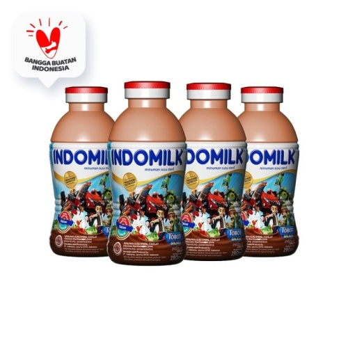Foto Produk SUSU STERIL INDOMILK CHOCO 190 ML X 4 Pcs dari Indomilk Official Store