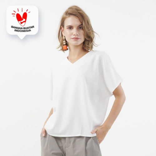 Foto Produk Ava Blouse Beatrice Clothing - Blouse Wanita - White dari Beatrice Clothing