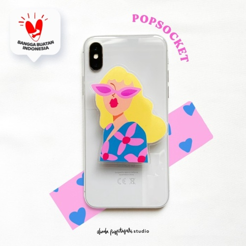 Foto Produk Yellow Girl Pop Socket Griptok dari Dinda Puspitasari Studio