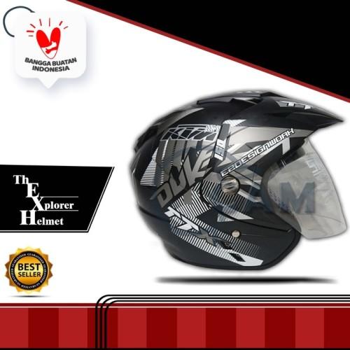 Foto Produk Helm DMN KNC JP-7 Duke abu bukan INK KYT GM NHK BXP dari Boss helm
