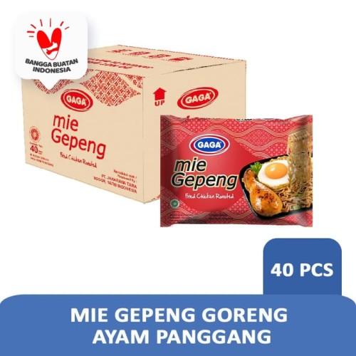 Foto Produk Mie Gepeng Goreng Ayam Panggang 75g (1 dus = 40 pcs Harga Grosir) dari Gaga Official Store