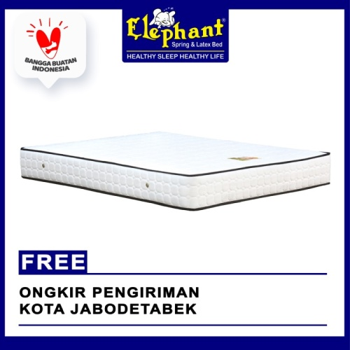 Foto Produk [CUSTOM BED] GAJAH Springbed Mattress / kasur ROCKY Matras Only - 100 x 200, Super White dari Elephant Springbed