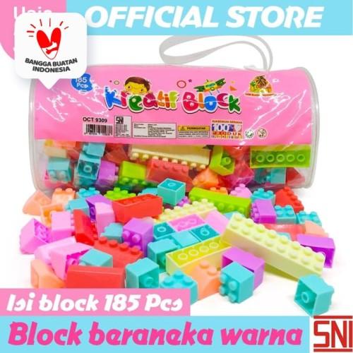 Foto Produk Promo Mainan Edukasi anak Kreative Block Isi 185 Pcs OCT9309 dari Ocean Toy Indo