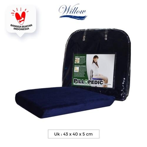 Foto Produk Bantal Alas Duduk Memory Foam / Willow Pillopedic Seat Cush BLUE dari Willow Pillow