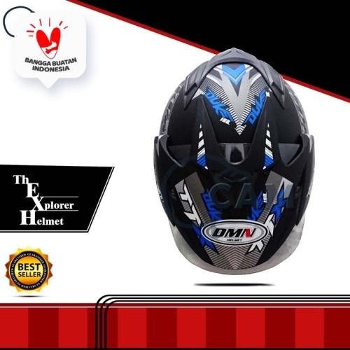 Foto Produk Helm DMN double visor Duke Biru doff bukan BXP KYT INK GM NHK JPN dari Boss helm