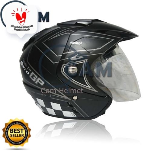 Foto Produk Helm DMN double visor Moto GP ABU DOff Bukan BXP KYT INK NHK GM JPN dari Boss helm