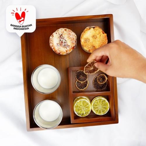 Foto Produk Lotu  tempat penyimpanan kopi teh saji tray serving hotel kamar custom dari Mendekor