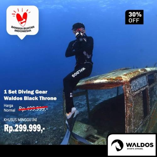 Foto Produk PROMO !! 1 Set Diving Gear Waldos Black Throne - Hitam, L dari Waldos Sports Apparel