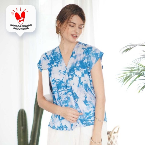 Foto Produk Natya Blouse Beatrice Clothing (Blouse Tie Dye) - Paint Blue dari Beatrice Clothing