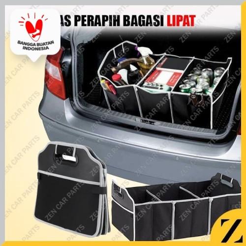 Foto Produk Car Boot Organizer / Tas Penyimpanan Bagasi Mobil HITAM dari Zen Car Parts