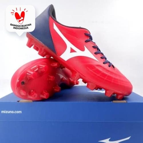 Foto Produk Sepatu Bola Mizuno Rebula 3 Select High Risk Red White P1GA206501 Ori - 41 dari KING OF DRIBBLE