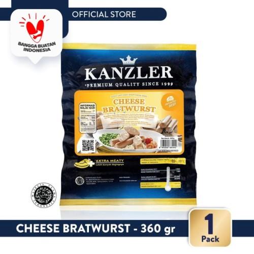 Foto Produk 1 Pack - Kanzler Cheese Bratwurst 360gr dari Kanzler Official Store