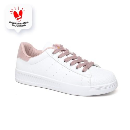 Foto Produk PVN Sepatu Sneakers Wanita Putih Sport Shoes 201 - White Pink, 37 dari PVN Official Store