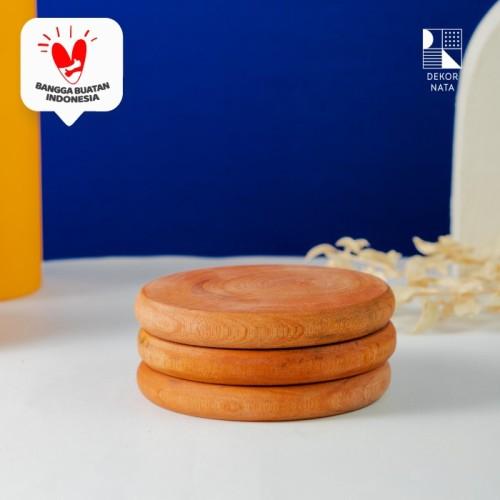 Foto Produk Adisa Wooden Coaster / Alas Kayu untuk Cangkir /Gelas Diameter 10 cm dari Dekornata