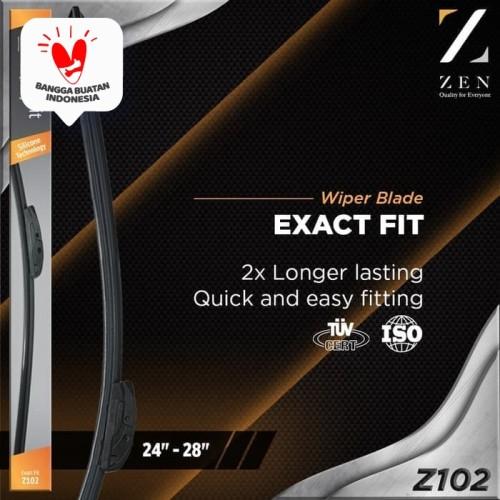 """Foto Produk Zen Exact Fit Silicone Frameless Wiper Z102 26"""" Full Silikon Wiper dari Zen Car Parts"""