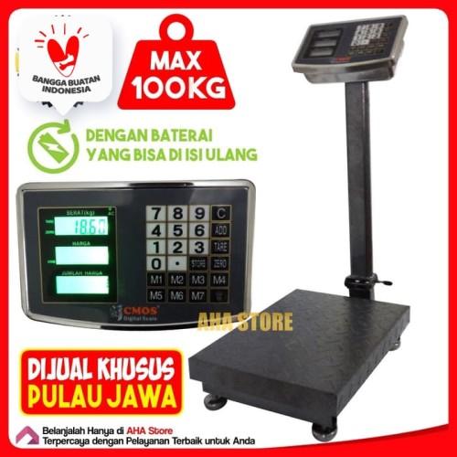 Foto Produk CMOS Timbangan Duduk Digital 100 Kg DS-100K dari AHA Store Official
