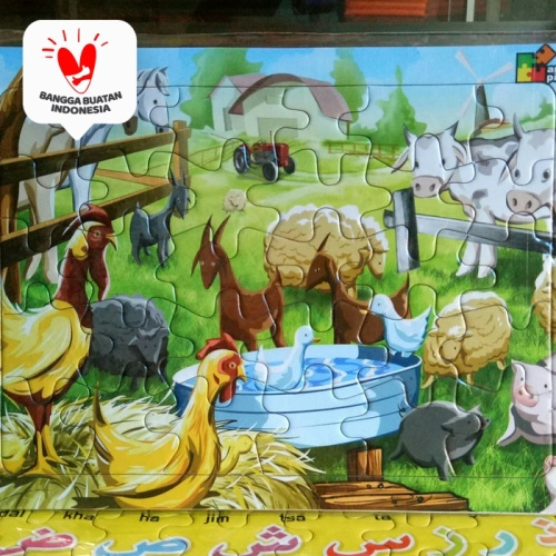Foto Produk Puzzle / Puzle / Pazel Mengenal Hewan - belajar mengasah otak anak dari ALIDA