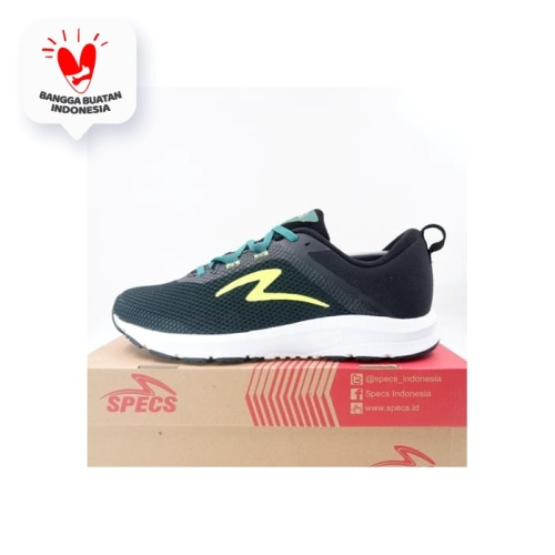 Foto Produk Sepatu Running/Lari Specs Cloudwave Olive Safety Yellow 200644 Ori dari KING OF DRIBBLE