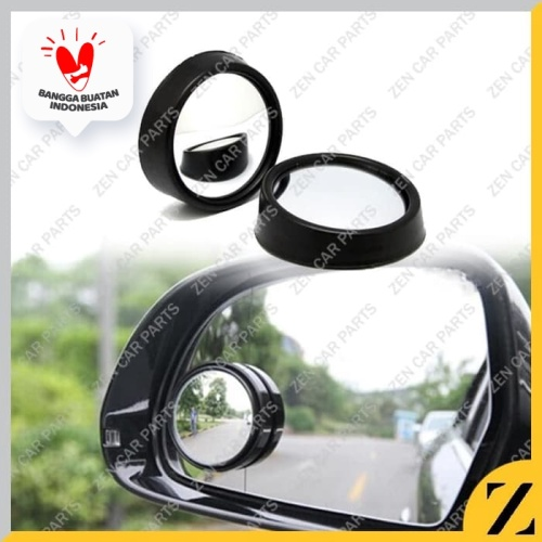Foto Produk KACA SPION MINI CEMBUNG TAMBAHAN SPION WIDE ANGLE BLINDSPOT MIRROR dari Zen Car Parts