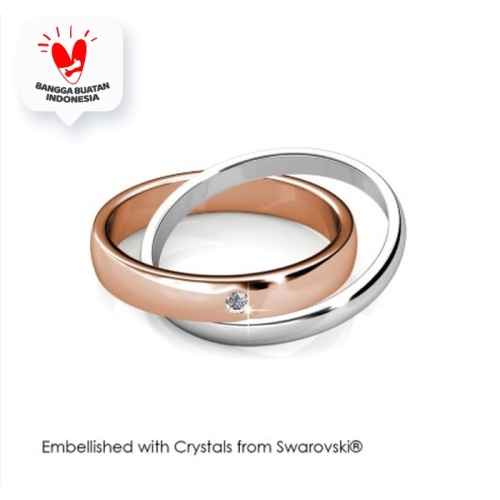 Foto Produk True Love RIng - Cincin Crystal Swarovski by Her Jewellery - 7 dari Her Jewellery