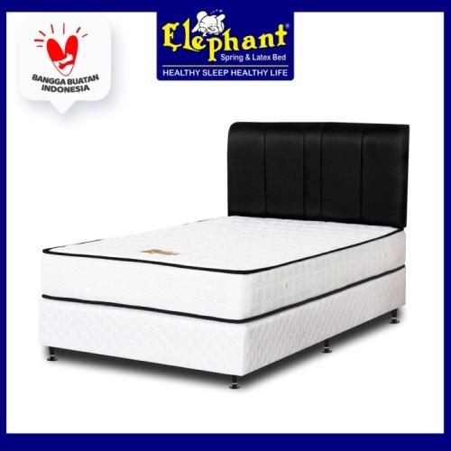 Foto Produk GAJAH SPRINGBED tipe ROCKY 120 x 200 KOMPLIT SET - Divan Putih dari Elephant Springbed