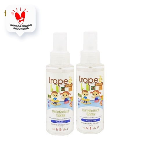 Foto Produk Tropee Bebe - Disinfectant Spray 100ml Double Pack dari Tropee Bebe
