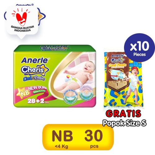 Foto Produk PROMO- CHERIS Popok Bayi NB30 FREE Popok Size S dari Cheris Official Store