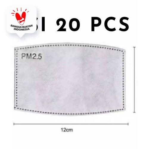 Foto Produk Filter N95 PM 2.5 Isi 20 Pcs 5 Lapisan Filter Bersertifikasi FDA & CE dari JMC Helmet