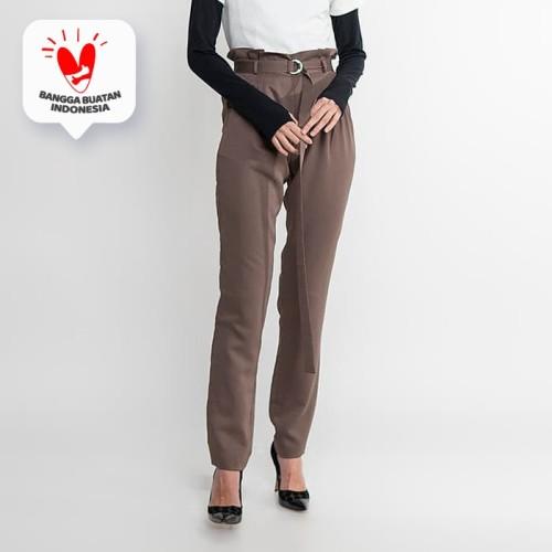 Foto Produk JENAHARA High Waisted Pants with Pleated Dusty Purple - Dusty Purple, L dari JENAHARA OFFICIAL
