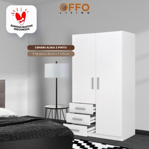 Foto Produk Lemari / Lemari Baju / Lemari Pakaian ALIKA 3 Pintu dan 2 Pintu - 2 Pintu dari Offo Living